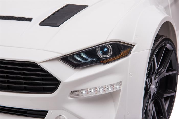 Masinuta electrica Premier Ford Mustang, 12V, roti cauciuc EVA, scaun piele ecologica, alb [20]