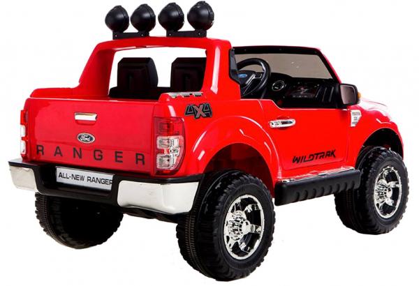 Masinuta electrica Premier Ford Ranger, 12V, roti cauciuc EVA, scaun piele ecologica, rosu 3