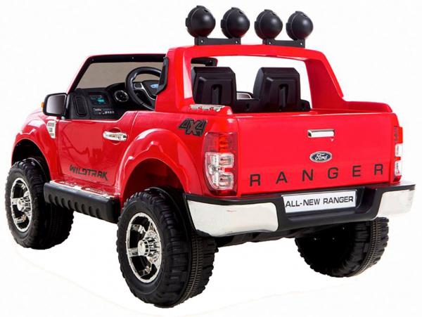 Masinuta electrica Premier Ford Ranger, 12V, roti cauciuc EVA, scaun piele ecologica, rosu 1