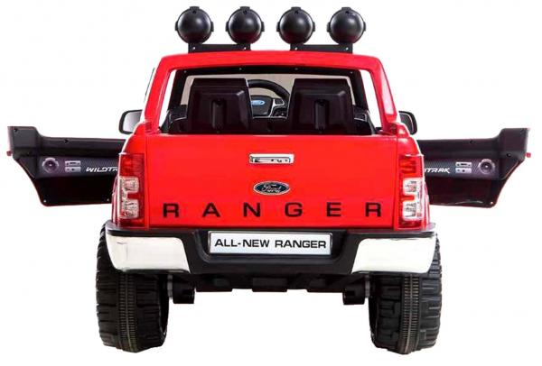 Masinuta electrica Premier Ford Ranger, 12V, roti cauciuc EVA, scaun piele ecologica, rosu 5