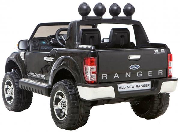 Masinuta electrica Premier Ford Ranger, 12V, roti cauciuc EVA, scaun piele ecologica, negru [1]