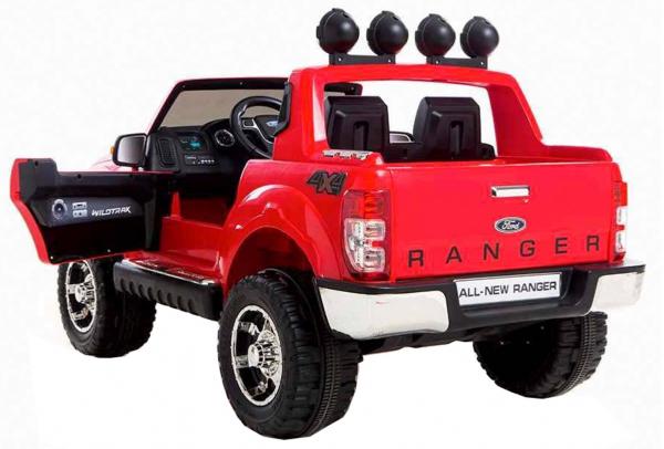 Masinuta electrica Premier Ford Ranger, 12V, roti cauciuc EVA, scaun piele ecologica, rosu 2