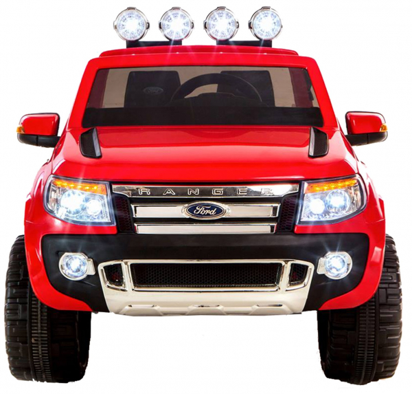 Masinuta electrica Premier Ford Ranger, 12V, roti cauciuc EVA, scaun piele ecologica, rosu 4