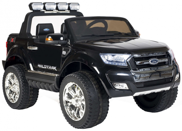 Masinuta electrica Premier Ford Ranger 4x4, 12V, roti cauciuc EVA, scaun piele ecologica, negru [2]