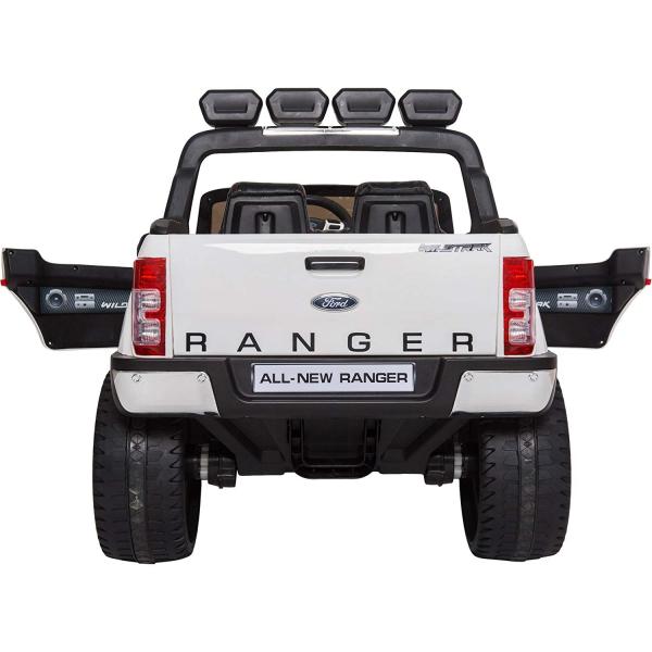Masinuta electrica Premier Ford Ranger 4x4, 12V, roti cauciuc EVA, scaun piele ecologica, alb 7