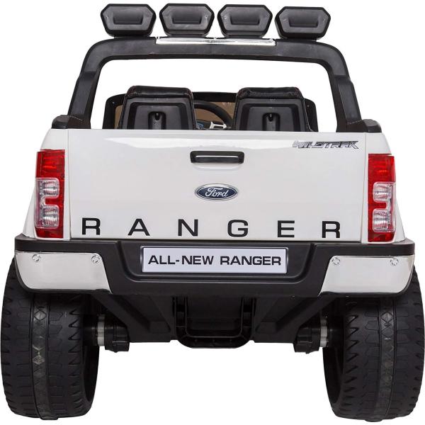 Masinuta electrica Premier Ford Ranger 4x4, 12V, roti cauciuc EVA, scaun piele ecologica, alb 6