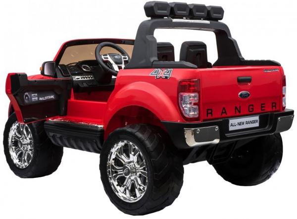Masinuta electrica Premier Ford Ranger 4x4, 12V, roti cauciuc EVA, scaun piele ecologica, rosu 4
