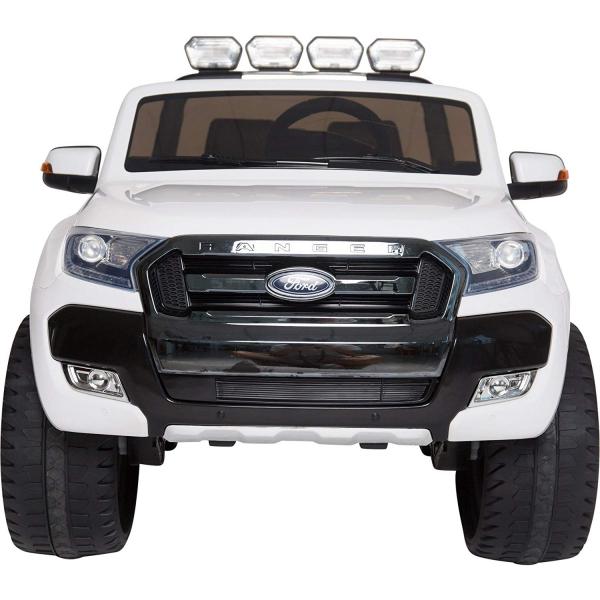 Masinuta electrica Premier Ford Ranger 4x4, 12V, roti cauciuc EVA, scaun piele ecologica, alb 4