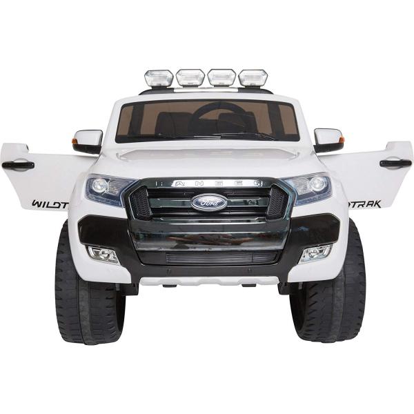 Masinuta electrica Premier Ford Ranger 4x4, 12V, roti cauciuc EVA, scaun piele ecologica, alb 2