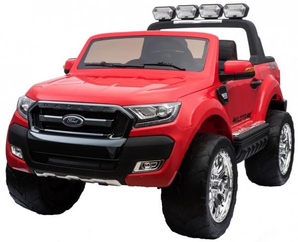 Masinuta electrica Premier Ford Ranger 4x4, 12V, roti cauciuc EVA, scaun piele ecologica, rosu 12