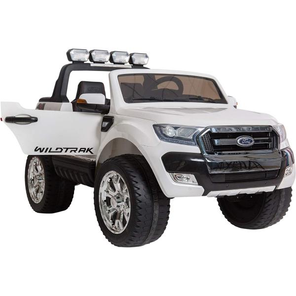 Masinuta electrica Premier Ford Ranger 4x4, 12V, roti cauciuc EVA, scaun piele ecologica, alb 5