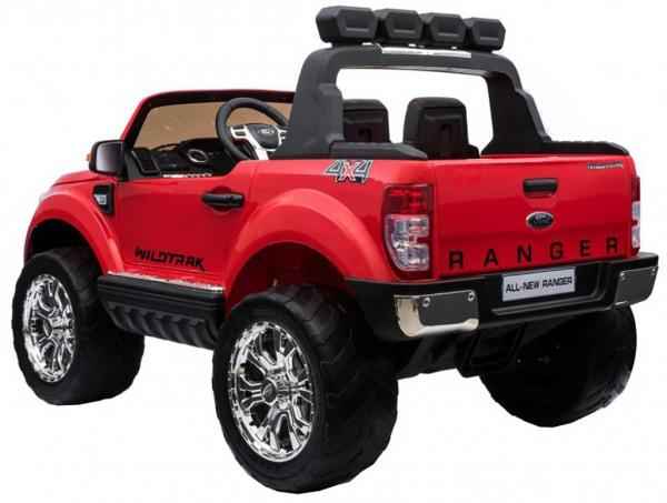 Masinuta electrica Premier Ford Ranger 4x4, 12V, roti cauciuc EVA, scaun piele ecologica, rosu 2