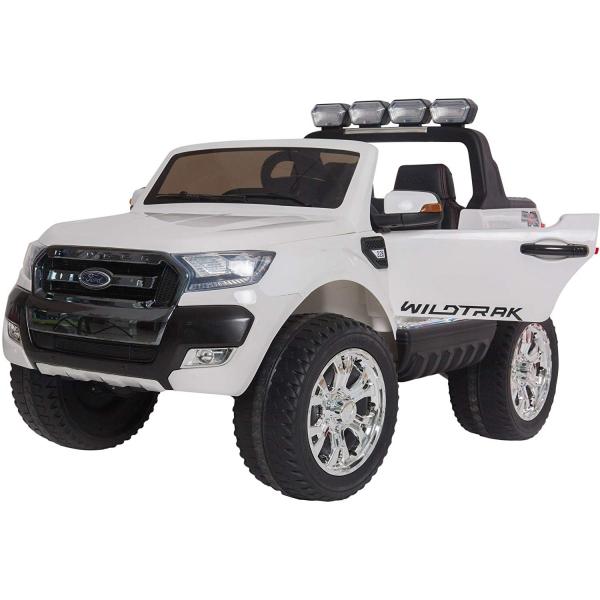 Masinuta electrica Premier Ford Ranger 4x4, 12V, roti cauciuc EVA, scaun piele ecologica, alb 0