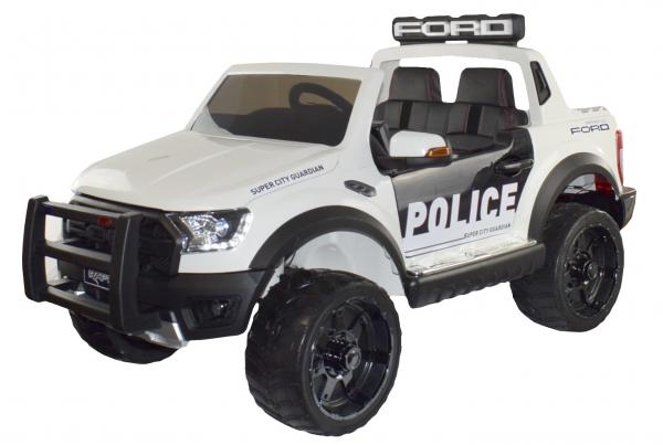 Masinuta electrica politie Premier Ford Raptor, 12V, roti cauciuc EVA, scaun piele ecologica 0