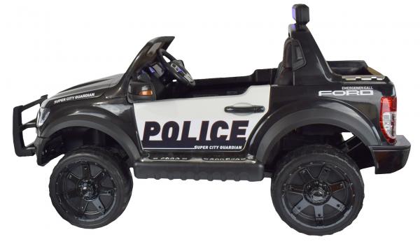Masinuta electrica politie Premier Ford Raptor, 12V, roti cauciuc EVA, scaun piele ecologica negru 9