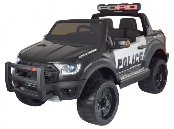 Masinuta electrica politie Premier Ford Raptor, 12V, roti cauciuc EVA, scaun piele ecologica negru 0