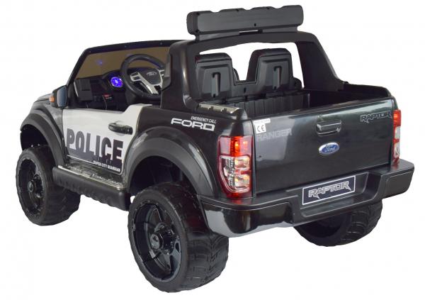 Masinuta electrica politie Premier Ford Raptor, 12V, roti cauciuc EVA, scaun piele ecologica negru 7