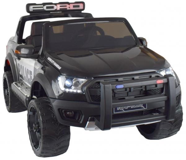 Masinuta electrica politie Premier Ford Raptor, 12V, roti cauciuc EVA, scaun piele ecologica negru 1