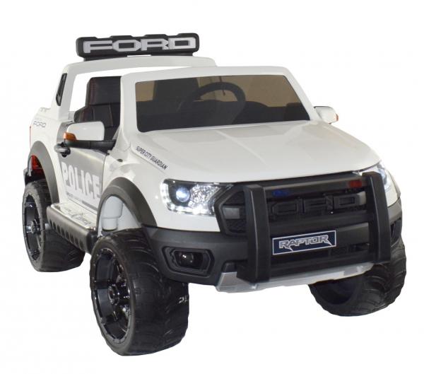 Masinuta electrica politie Premier Ford Raptor, 12V, roti cauciuc EVA, scaun piele ecologica 3