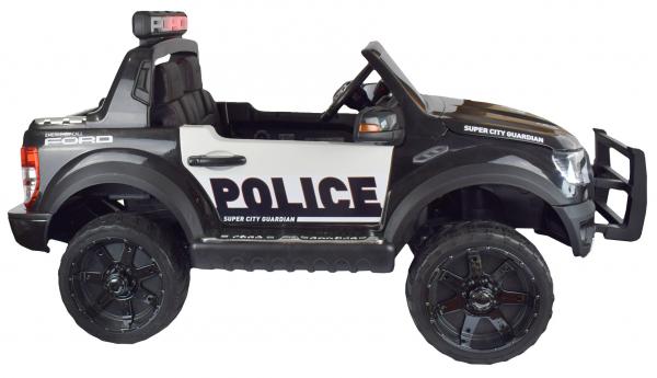 Masinuta electrica politie Premier Ford Raptor, 12V, roti cauciuc EVA, scaun piele ecologica negru 4