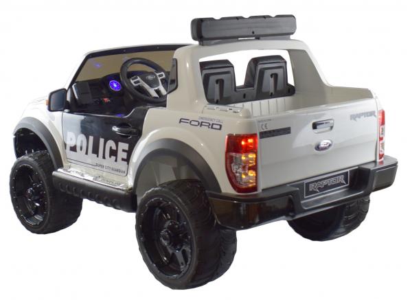 Masinuta electrica politie Premier Ford Raptor, 12V, roti cauciuc EVA, scaun piele ecologica 9