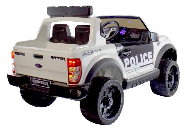 Masinuta electrica politie Premier Ford Raptor, 12V, roti cauciuc EVA, scaun piele ecologica 5
