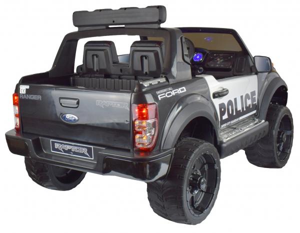 Masinuta electrica politie Premier Ford Raptor, 12V, roti cauciuc EVA, scaun piele ecologica negru 5