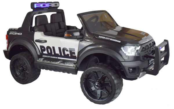 Masinuta electrica politie Premier Ford Raptor, 12V, roti cauciuc EVA, scaun piele ecologica negru 3