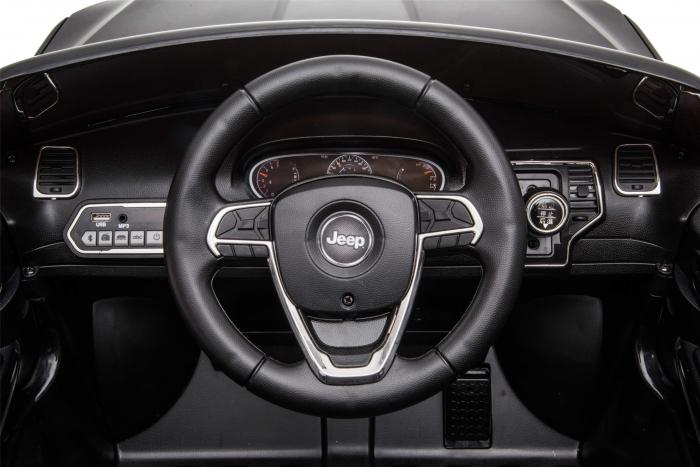 Masinuta electrica Premier Jeep Grand Cherokee, 12V, roti cauciuc EVA, scaun piele ecologica, negru [22]