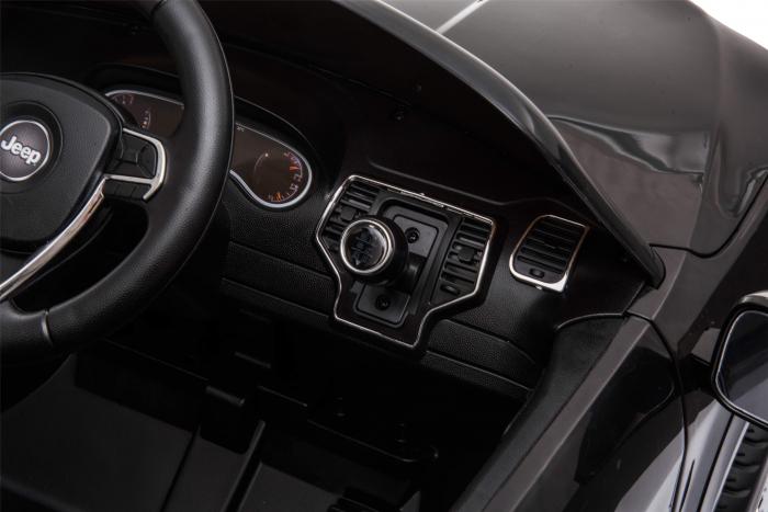 Masinuta electrica Premier Jeep Grand Cherokee, 12V, roti cauciuc EVA, scaun piele ecologica, negru [18]