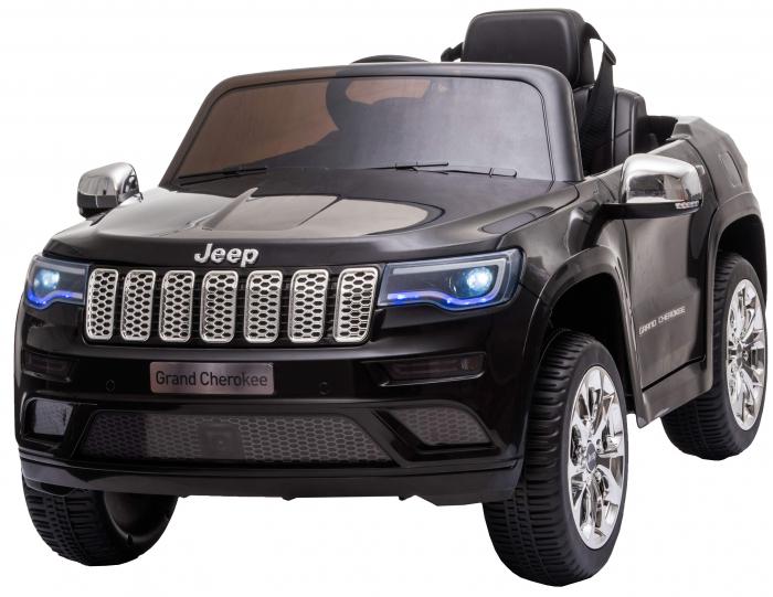 Masinuta electrica Premier Jeep Grand Cherokee, 12V, roti cauciuc EVA, scaun piele ecologica, negru [0]