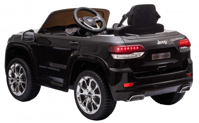 Masinuta electrica Premier Jeep Grand Cherokee, 12V, roti cauciuc EVA, scaun piele ecologica, negru [6]