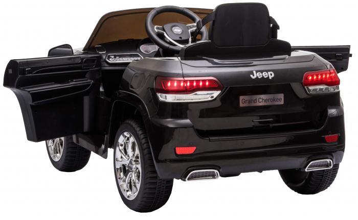 Masinuta electrica Premier Jeep Grand Cherokee, 12V, roti cauciuc EVA, scaun piele ecologica, negru [14]