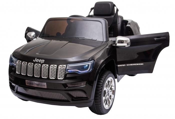 Masinuta electrica Premier Jeep Grand Cherokee, 12V, roti cauciuc EVA, scaun piele ecologica, negru [16]
