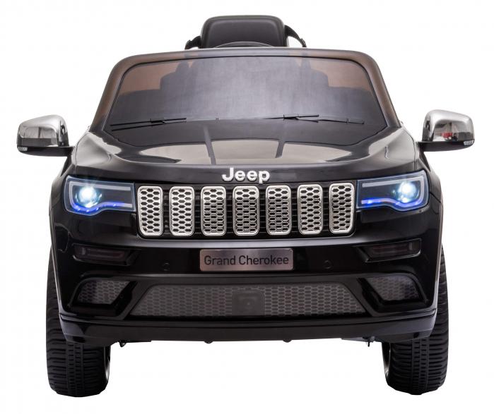 Masinuta electrica Premier Jeep Grand Cherokee, 12V, roti cauciuc EVA, scaun piele ecologica, negru [2]