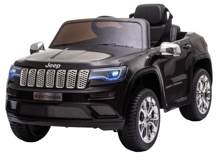 Masinuta electrica Premier Jeep Grand Cherokee, 12V, roti cauciuc EVA, scaun piele ecologica, negru [3]
