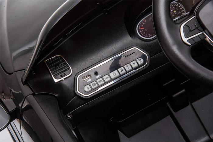 Masinuta electrica Premier Jeep Grand Cherokee, 12V, roti cauciuc EVA, scaun piele ecologica, negru [24]