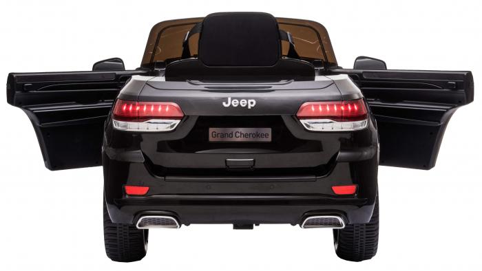 Masinuta electrica Premier Jeep Grand Cherokee, 12V, roti cauciuc EVA, scaun piele ecologica, negru [15]