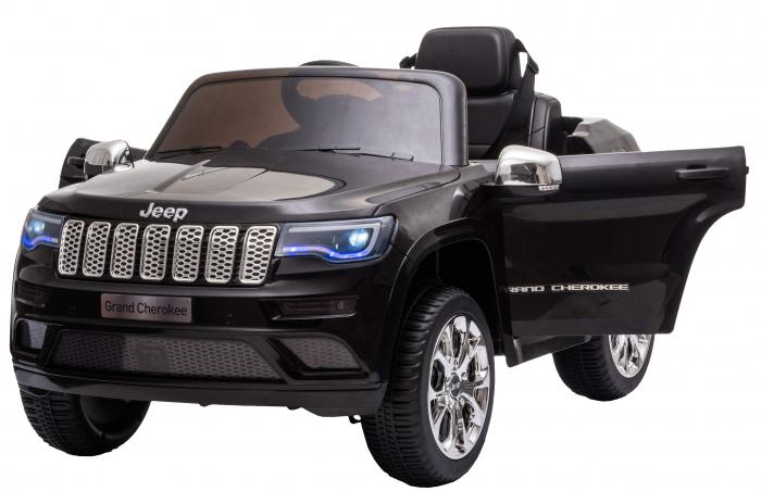 Masinuta electrica Premier Jeep Grand Cherokee, 12V, roti cauciuc EVA, scaun piele ecologica, negru [11]