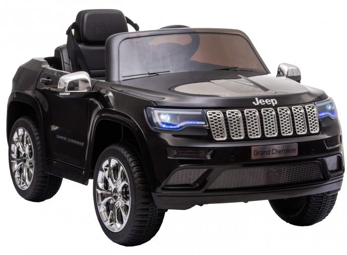 Masinuta electrica Premier Jeep Grand Cherokee, 12V, roti cauciuc EVA, scaun piele ecologica, negru [9]