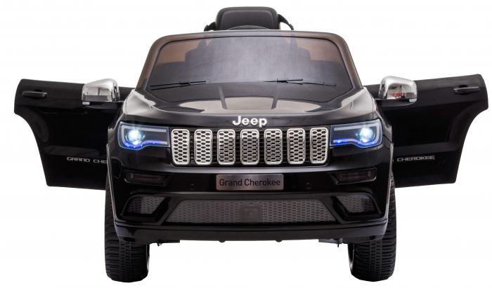 Masinuta electrica Premier Jeep Grand Cherokee, 12V, roti cauciuc EVA, scaun piele ecologica, negru [10]