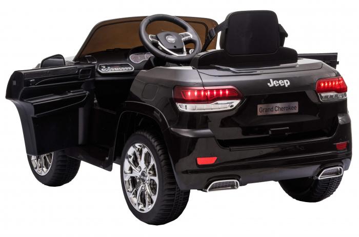 Masinuta electrica Premier Jeep Grand Cherokee, 12V, roti cauciuc EVA, scaun piele ecologica, negru [13]