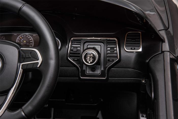 Masinuta electrica Premier Jeep Grand Cherokee, 12V, roti cauciuc EVA, scaun piele ecologica, negru [21]