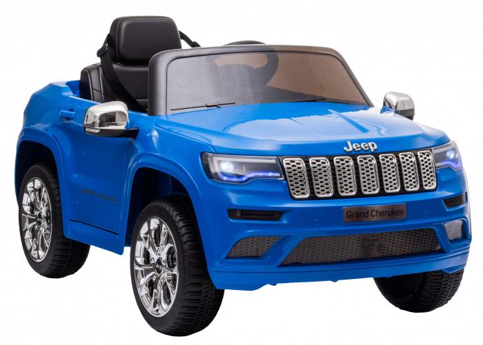Masinuta electrica Premier Jeep Grand Cherokee, 12V, roti cauciuc EVA, scaun piele ecologica, albastru [7]