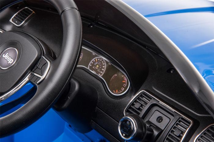 Masinuta electrica Premier Jeep Grand Cherokee, 12V, roti cauciuc EVA, scaun piele ecologica, albastru [23]