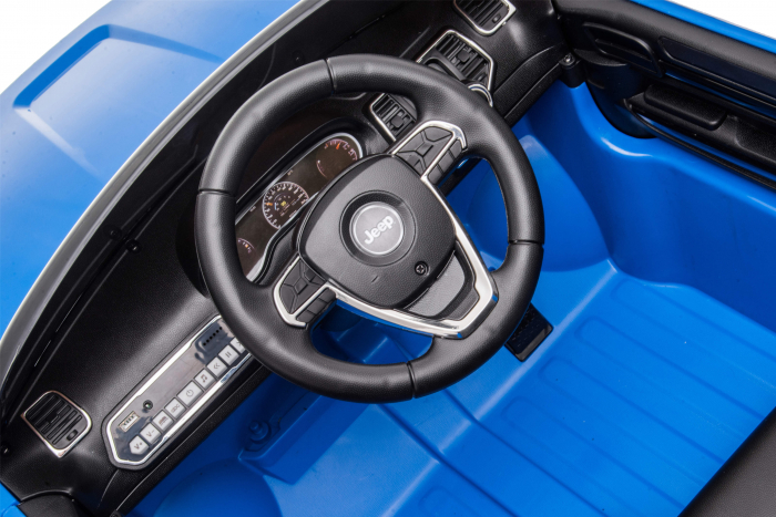 Masinuta electrica Premier Jeep Grand Cherokee, 12V, roti cauciuc EVA, scaun piele ecologica, albastru [20]