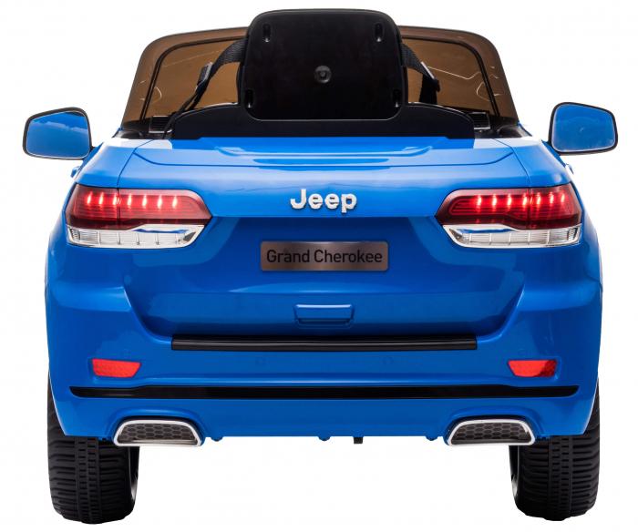 Masinuta electrica Premier Jeep Grand Cherokee, 12V, roti cauciuc EVA, scaun piele ecologica, albastru [6]