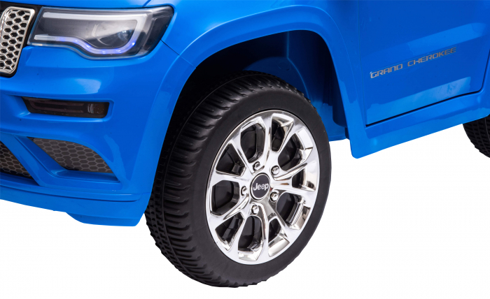 Masinuta electrica Premier Jeep Grand Cherokee, 12V, roti cauciuc EVA, scaun piele ecologica, albastru [14]