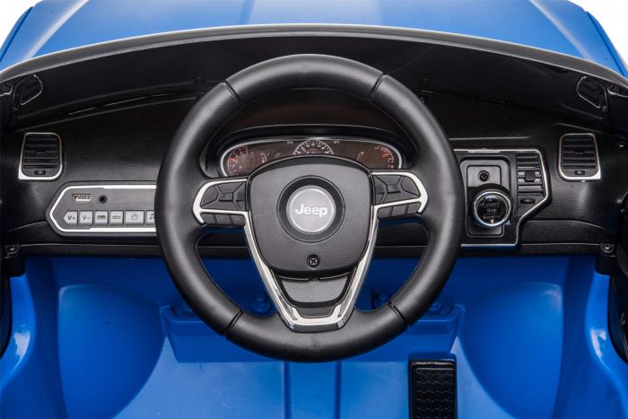Masinuta electrica Premier Jeep Grand Cherokee, 12V, roti cauciuc EVA, scaun piele ecologica, albastru [19]