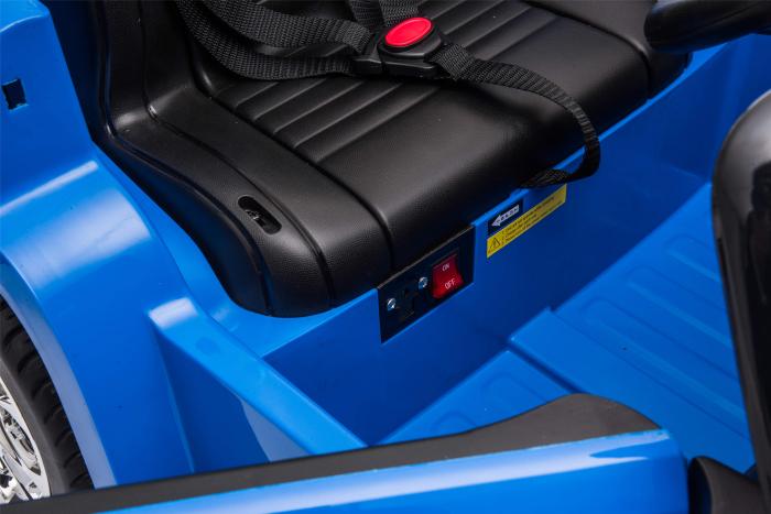 Masinuta electrica Premier Jeep Grand Cherokee, 12V, roti cauciuc EVA, scaun piele ecologica, albastru [26]